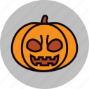 bad, carved, evil, halloween, pumpkin, vegetable icon