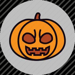 bad, carved, evil, halloween, pumpkin, vegetable icon