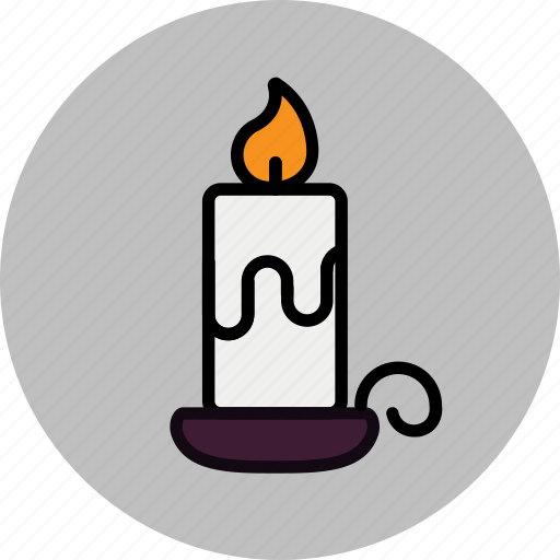 candle, lighted icon