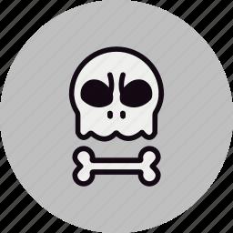 bad, bone, evil, halloween, head, skull icon