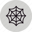 arachnid, halloween, spider, web icon