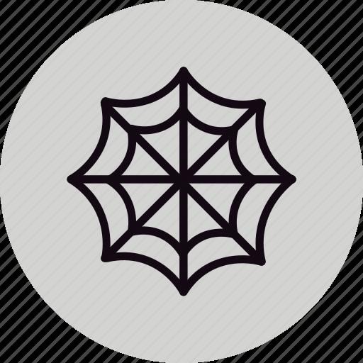 arachnid, halloween, spider, web icon