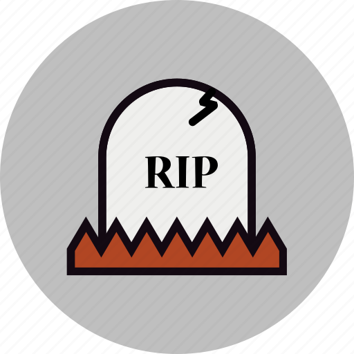 grave, graveyard, halloween, rest in peace, rip, rock, tombstone icon