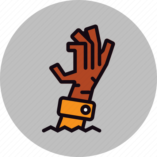 creppy, dead, evil, halloween, hand, zombie icon