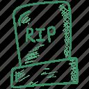grave, halloween, rip, tombstone icon