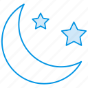 halloween moon, moon, stars, sundown, weather icon icon