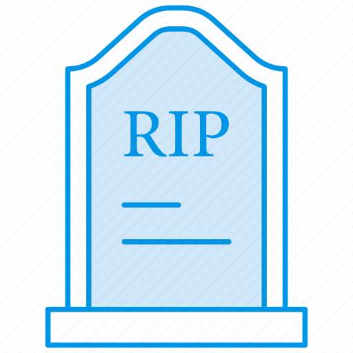 funeral, gravestone, graveyard, halloween, rip, tombstone icon icon