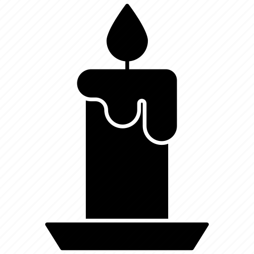candle, halloween, wax icon icon