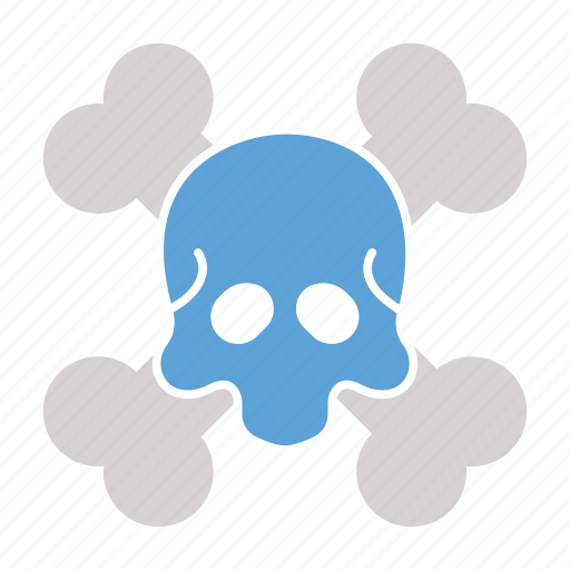 bones, dead, halloween, monster, skull, undead icon icon