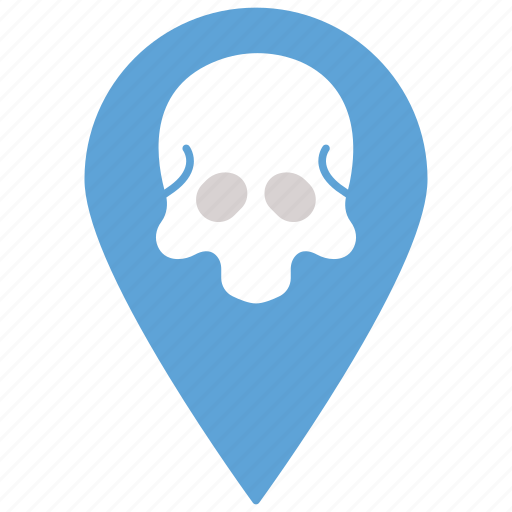 ghost, map, navigation, pin icon, spooky icon icon