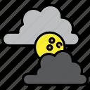 cloud, halloween, horror, moon, night icon