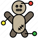 doll, halloween, scary, voodoo, voodoo doll icon