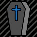 coffin, dead, death, grave, halloween, rip icon
