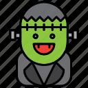 frankenstein, halloween, monster, scary, spooky, zombie icon