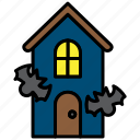 ghost house, halloween, house, hunted, hunted house, scary house icon