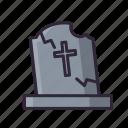 cemetery, dead, halloween, stone icon