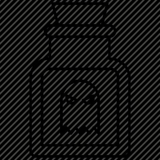 blood, bottle, eye, halloween icon icon