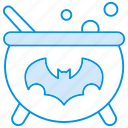 bat, boil, cauldron, halloween, witch icon icon