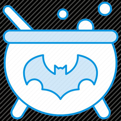 bat, boil, cauldron, halloween, witch icon icon