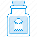 blood, bottle, eye, halloween icon icon