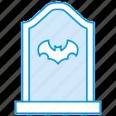 bat, funeral, gravestone, graveyard, halloween, rip, tombstone icon icon