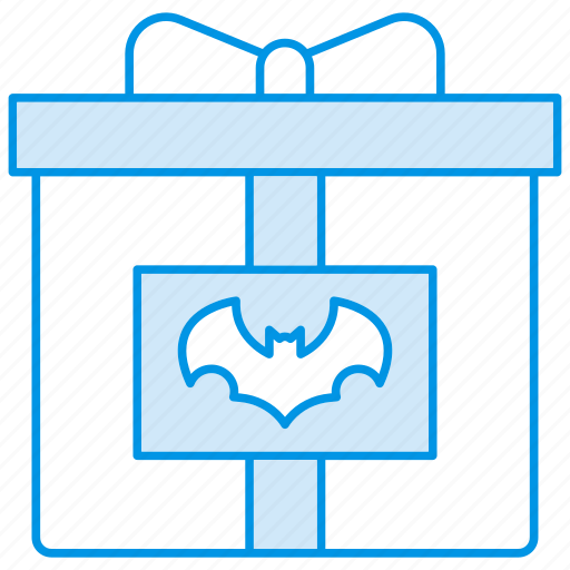 bat, candy, gift, halloween, present icon icon