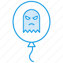 ballon, ghost, halloween, spooky icon icon