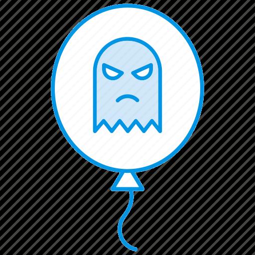 ballon, ghost, halloween, spooky icon icon