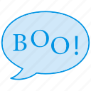 boo, boo written, ghost, halloween, spooky icon icon