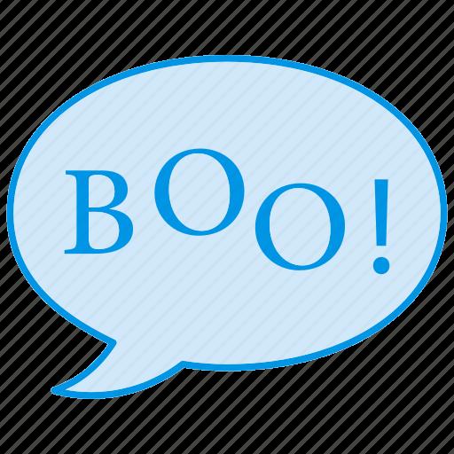 boo, boo written, ghost, halloween, spooky icon icon