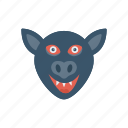 clown, creepy, halloween, spooky icon
