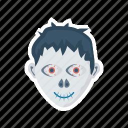 creepy, ghost, halloween, zombie icon