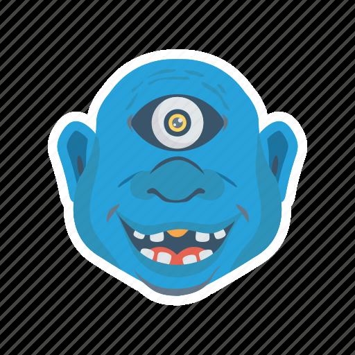 creepy, halloween, monster, zombie icon