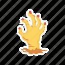 halloween, hand, monster, zombie icon