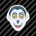 clown, scary, spooky, zombie icon