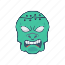 clown, ghost, halloween, zombie icon