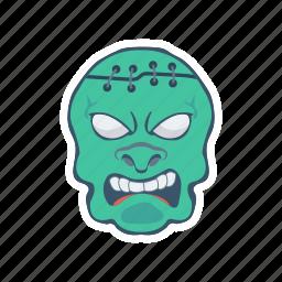clown, ghost, halloween, zombie icon