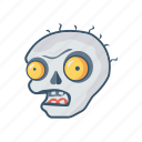 clown, creepy, halloween, monster icon