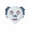 clown, creepy, halloween, scull icon