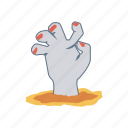 halloween, hand, monster, zombie icon