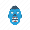 clown, creepy, monster, zombie icon