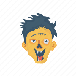 monster, scary, spooky, zombie icon