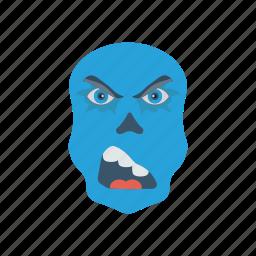 clown, halloween, scull, zombie icon