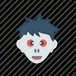 creepy, devil, skull, spooky icon