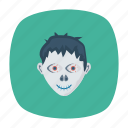 creepy, ghost, halloween, zombie icon