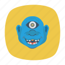 creepy, halloween, monster, zombie icon