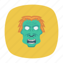 clown, ghost, scary, spooky icon