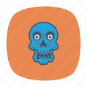 danger, ghost, halloween, skull icon