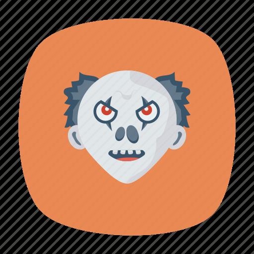 clown, creepy, halloween, scull icon