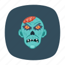 clown, halloween, monster, zombie icon
